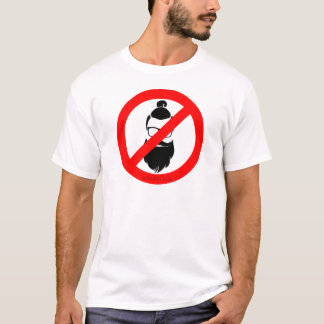 No Hipsters or Man Buns T-Shirt