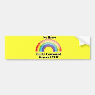 No Homo God's Covenant Car Bumper Sticker