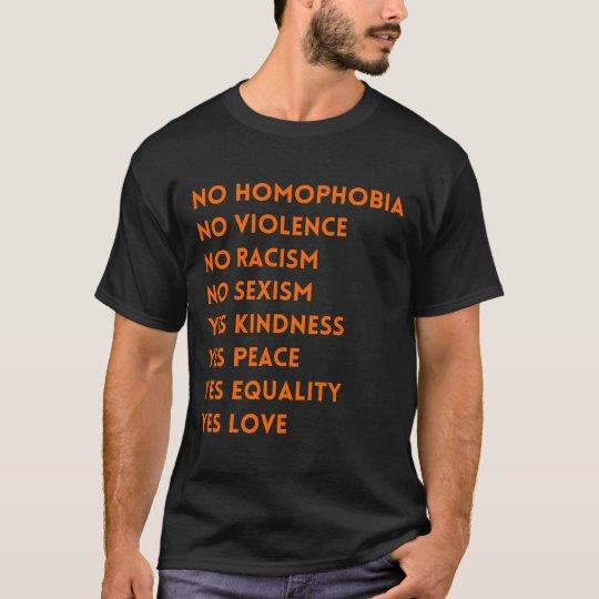 No Homophobia No Violence T-Shirt