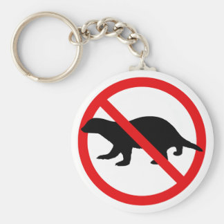 No Honey Badgers Key Ring