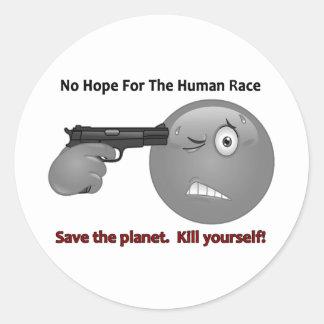 No Hope Emoticon Logo Stickers
