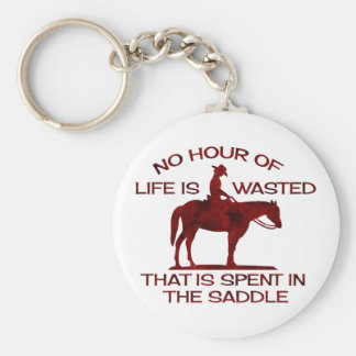 no hour of life is wasted rusted red.png basic round button key ring