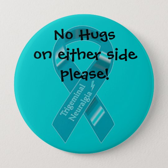 NO hugs on either side button. 10 Cm Round Badge