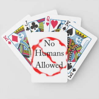 No humans allowed bicycle playing cards