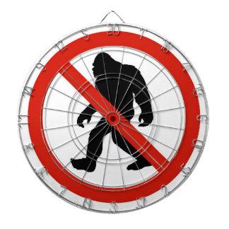 NO HUNTING BIGFOOT DARTBOARD