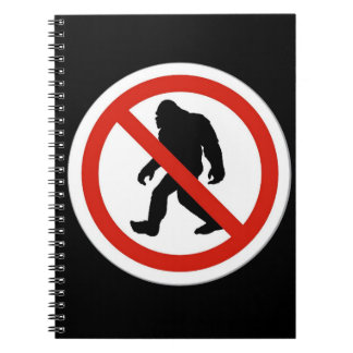 NO HUNTING BIGFOOT SPIRAL NOTEBOOKS