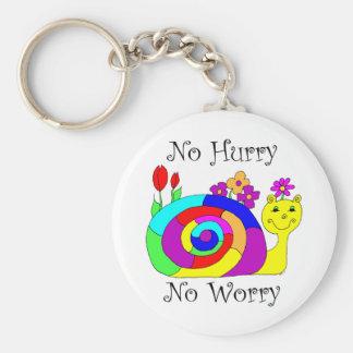 No Hurry, No Worry Slowpoke The Snail Key Ring