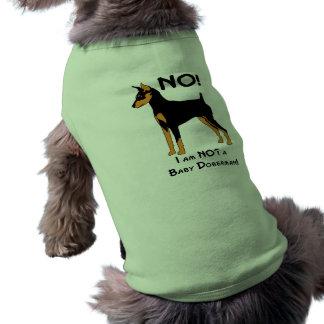No, I am not a Baby Doberman! Sleeveless Dog Shirt