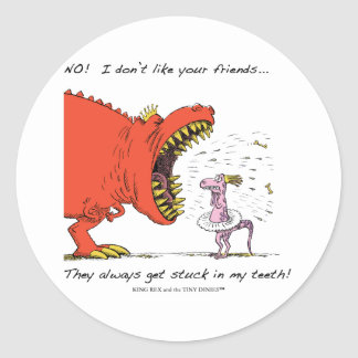 No! I don't like your friends... Sticker