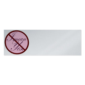 No I mean yes (the plain Jane) Pack Of Skinny Business Cards