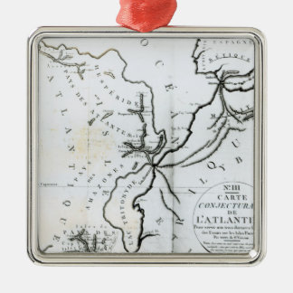 No. III Conjectural Map of the Island of Christmas Ornament