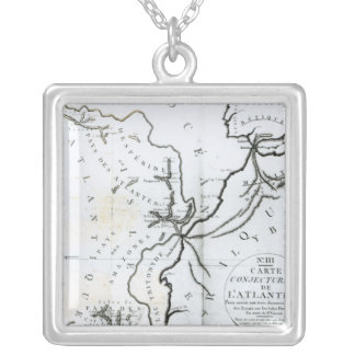 No. III Conjectural Map of the Island of Silver Plated Necklace