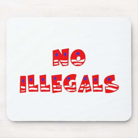 No Illegal Aliens Mouse Mat