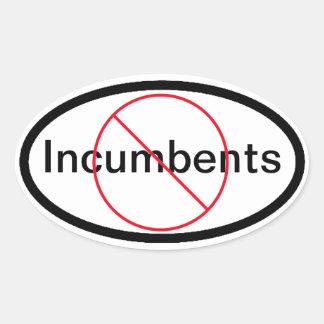 No Incumbents Oval Sticker