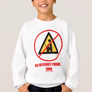 No Internet Privacy Zone (Computer Privacy Humor) Shirts