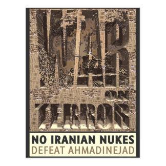 No Iranian Nukes Postcard