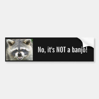 No, it's NOT a banjo! Bumper Sticker