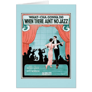 No Jazz 1920s jazz age vintage sheet music cover Greeting Card