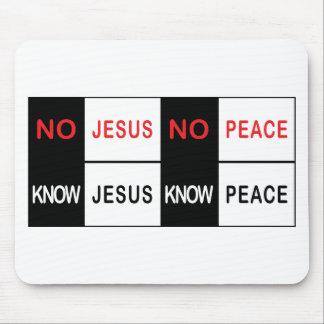 No Jesus No Peace Mouse Mat