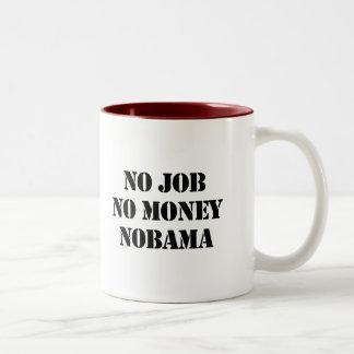 NO JOB. NO MONEY. NOBAMA COFFEE MUG