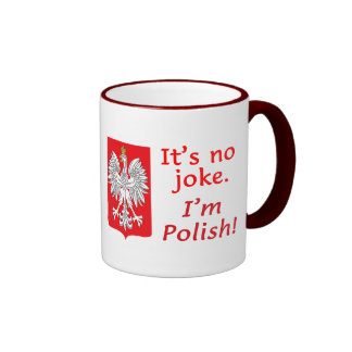 No Joke I'm Polish Ringer Coffee Mug