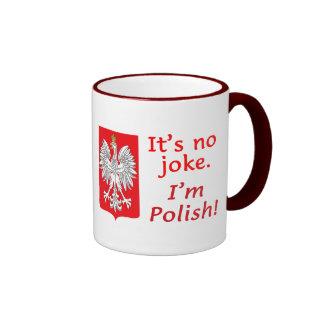No Joke I'm Polish Ringer Mug