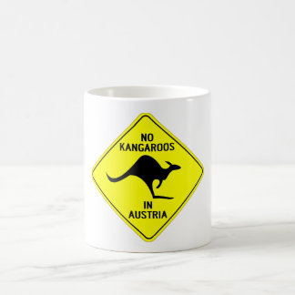 NO KANGAROOS IN AUSTRIA COFFEE MUG