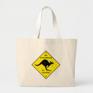 No kangaroos in Austria! Large Tote Bag