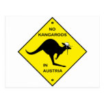 No kangaroos in Austria! Post Cards