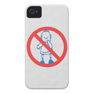 No Kids Allowed Blackberry Case