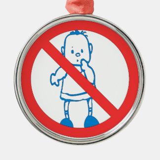 No Kids Allowed Christmas Ornament