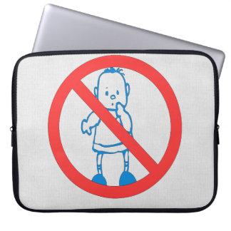 No Kids Allowed Laptop Computer Sleeve
