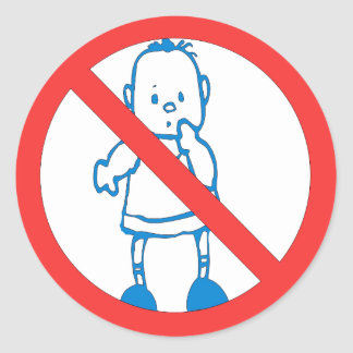 No Kids Allowed Sticker