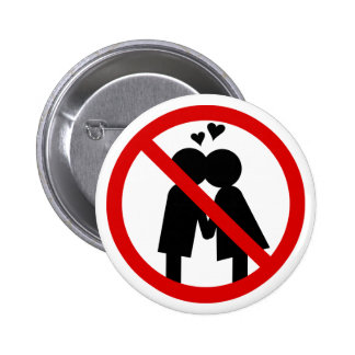 No Kisses Anti-Valentine s Day Button