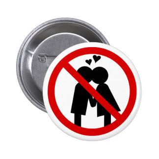 No Kisses Anti-Valentine's Day Button
