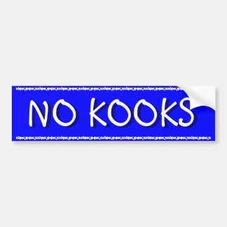 NO KOOKS - SURFING BUMPER STICKER