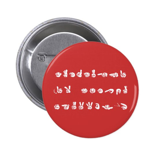No L ASL Graffiti 6 Cm Round Badge