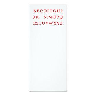 "No L ""Joke"" Alphabet (Noel) 4"" X 9.25"" Invitation Card"