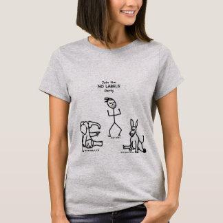 No Label Political Party T-Shirt