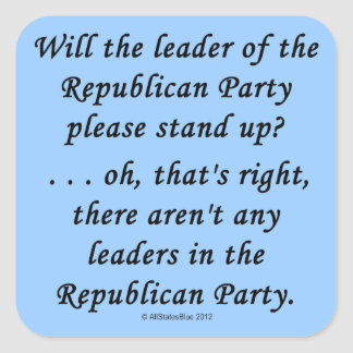 No Leaders In The GOP Sticker