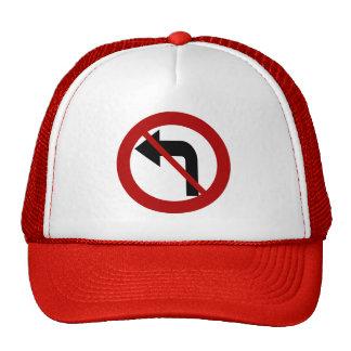 No Left Turn Cap Trucker Hat