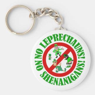 No leprechauns, no shenanigans basic round button key ring