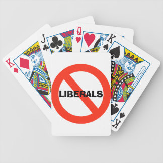 No Liberals Custom Playing Cards