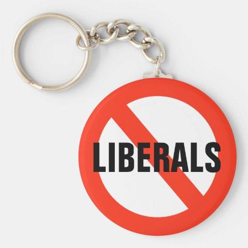 NO LIBERALS Key Chain