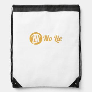 No Lie Plain Drawstring Backpack