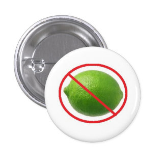 No Limes 3 Cm Round Badge