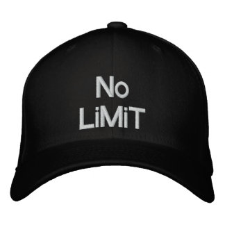 No LiMiT Embroidered Baseball Cap