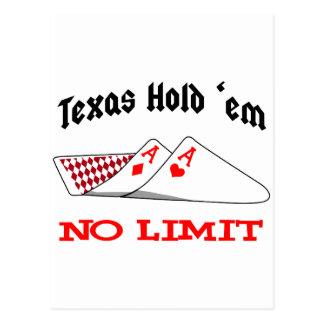 No Limit Poker Postcard