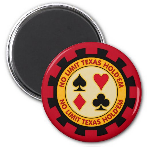 No Limit Texas Hold'em Poker Chip Magnets