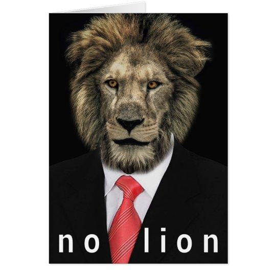 No Lion Card